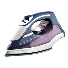 Утюг SCARLETT SC-SI30K19, 2400 Вт, терморегулятор, антипригарная поверхность, самоочистка, автоотключение, фиолетовый