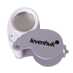 Лупа LEVENHUK Zeno Gem M5, увеличение х40, диаметр линзы 25 мм, подсветка, складная, металл