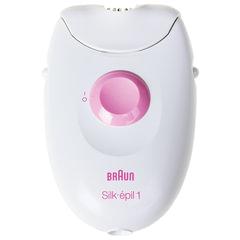 Эпилятор BRAUN 1370, 20 пинцетов, 1 скорость, 1 насадка, сеть, белый/розовый