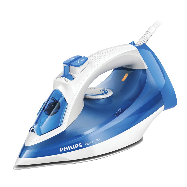 Утюг PHILIPS GC2990/20, 2300 Вт, металлокерамическое покрытие, самоочистка, антикапля, белый/голубой