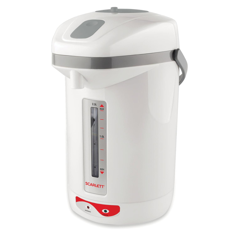 Термопот SCARLETT SC-ET10D12, 2,5 л, 650 Вт, 1 температурный режим, ручной насос, пластик, белый