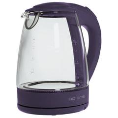 Чайник POLARIS PWK 1767CGL, 1,7 л, 2200 Вт, закрытый нагревательный элемент, стекло, фиолетовый