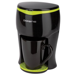 Кофеварка капельная POLARIS PCM 0109, 350 Вт, 1 порция за цикл, 1 чашка в комплекте, пластик, черный