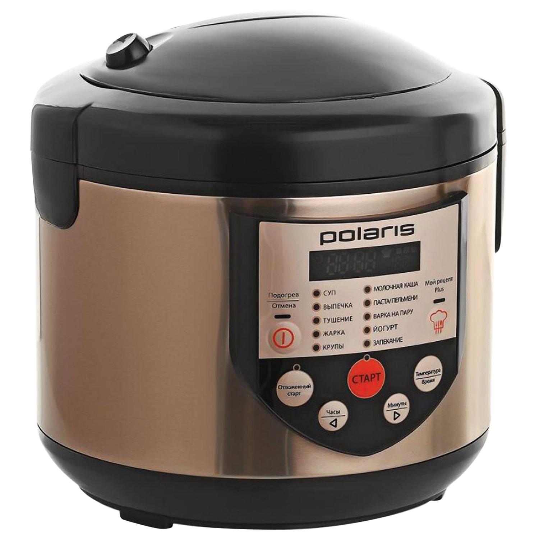 Мультиварка POLARIS PMC 0351AD, 600 Вт, 3 л, 10 программ, таймер, бронзовый