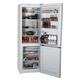 Холодильник INDESIT DF4180W, общий объем 298 л, нижняя морозильная камера 75 л, 60х64х185 см, белый