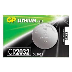 Батарейка GP Lithium, CR2032, литиевая, 1 шт., в блистере (отрывной блок), CR2032-7CR5