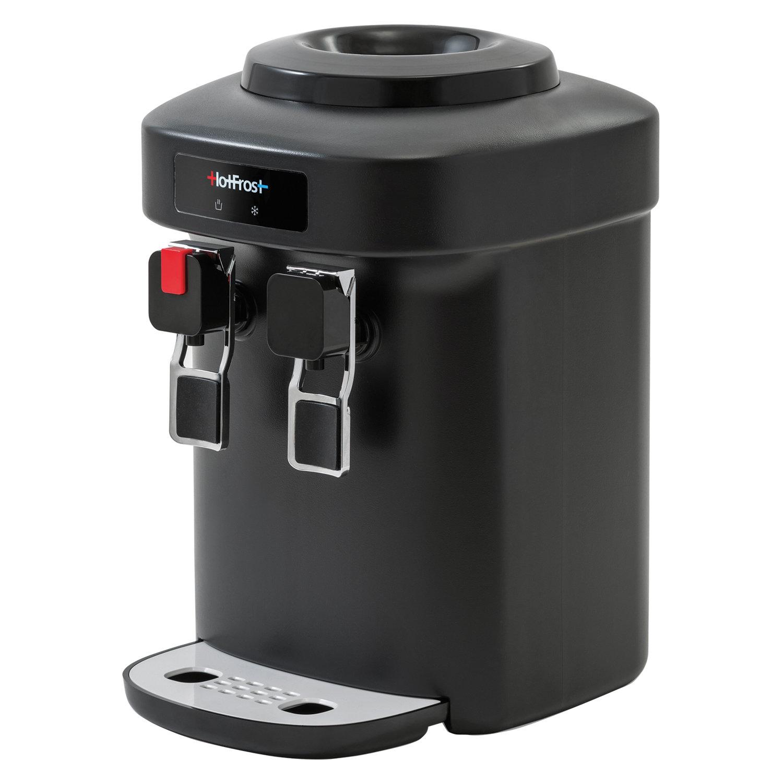 Кулер для воды HOT FROST D65EN, настольный, НАГРЕВ/ОХЛАЖДЕНИЕ ЭЛЕКТРОННОЕ, 2 крана, черный, 110206501