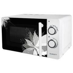 Микроволновая печь SCARLETT SC-MW9020S06M, объем 20 л, 700 Вт, механическое управление, таймер, гриль, белая