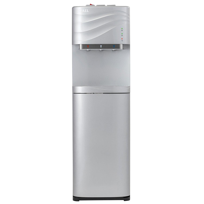 Пурифайер для воды AEL LC-AEL-540S, напольный, НАГРЕВ/ОХЛАЖДЕНИЕ, 1 кран (3 кнопки), серебристый, 247