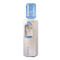 Кулер для воды AEL LC-AEL-17B, напольный, НАГРЕВ/ОХЛАЖДЕНИЕ КОМПРЕССОРНОЕ, холодильник 16 л, 2 крана, белый