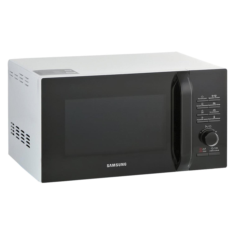 Микроволновая печь SAMSUNG MS23H3115FW/BW, объем 23л, мощность 800 Вт, электронное управление, белая