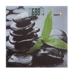 Весы напольные UNIT UBS-2056, электронные, вес до 180 кг, квадратные, стекло, с рисунком
