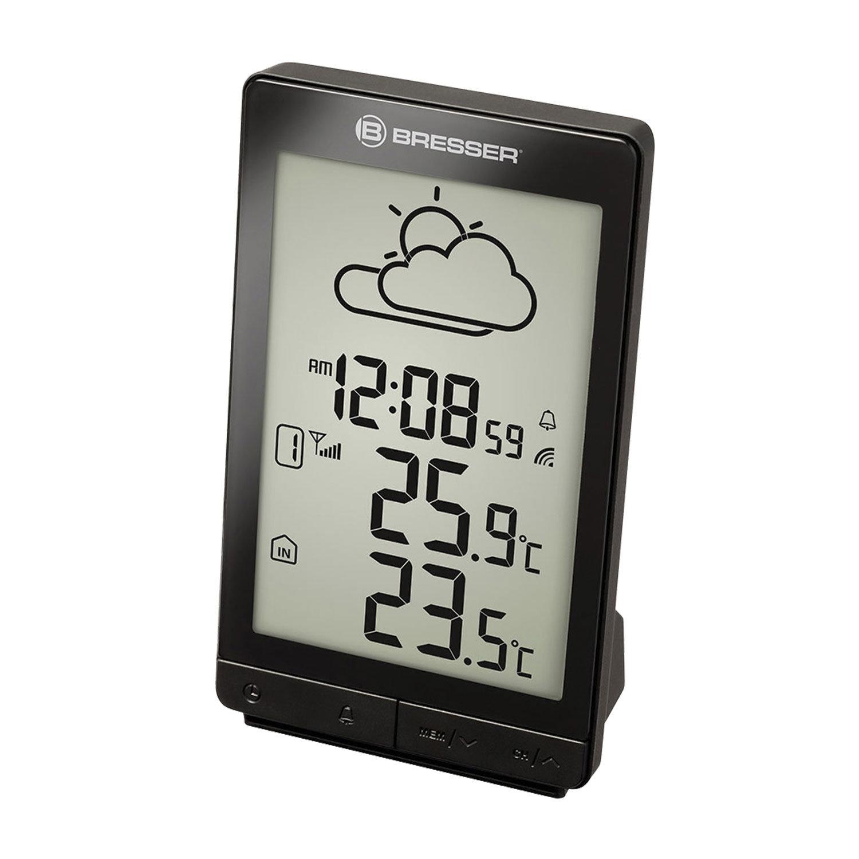 Метеостанция BRESSER TemeoTrend STX, термодатчик, часы, будильник, черный, 73270