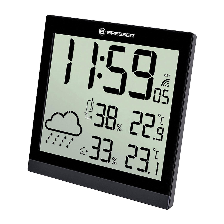 Метеостанция BRESSER TemeoTrend JC LCD, термодатчик, гигрометр, часы, будильник, черный, 73267