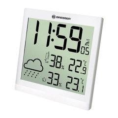 Метеостанция BRESSER TemeoTrend JC LCD, термодатчик, гигрометр, часы, будильник, белый, 73268