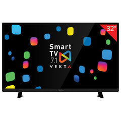 "Телевизор VEKTA LD-32SR4715BS, 32"" (81 см), 1366х768, HD Ready, 16:9, Smart TV, Android, Wi-Fi, черный"