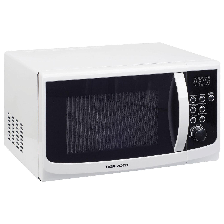 Микроволновая печь HORIZONT 23MW800-1379CAW, объем 23 л, мощность 800 Вт, электронное управление, белая