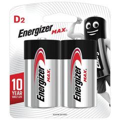 Батарейки ENERGIZER Max, D (LR20, 13А), алкалиновые, КОМПЛЕКТ 2 шт., в блистере