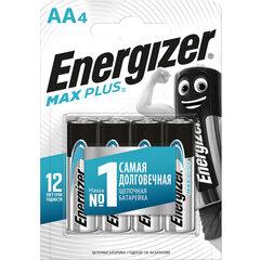 Батарейки КОМПЛЕКТ 4 шт., ENERGIZER Max Plus, AA (LR06, 15А), алкалиновые, пальчиковые, блистер