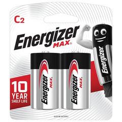 Батарейки ENERGIZER Max, С (LR14, 14А),алкалиновые, КОМПЛЕКТ 2 шт., в блистере
