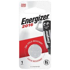 Батарейка ENERGIZER, CR 2016, литиевая, 1 шт, в блистере