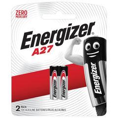 Батарейки ENERGIZER, A27 (27А), алкалиновые, для сигнализаций, КОМПЛЕКТ 2 шт., в блистере
