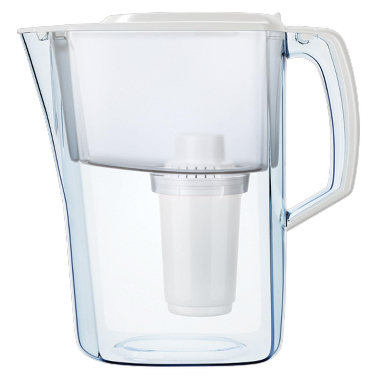 """Кувшин-фильтр для очистки воды АКВАФОР """"Атлант"""", 4 л, со сменной кассетой, счётчик ресурса, белый"""