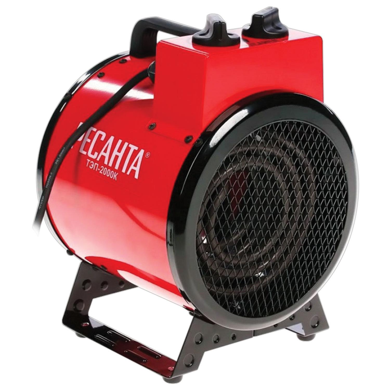 Тепловая пушка электрическая РЕСАНТА ТЭП-2000К, 2000 Вт, 220 В, круглая, красная