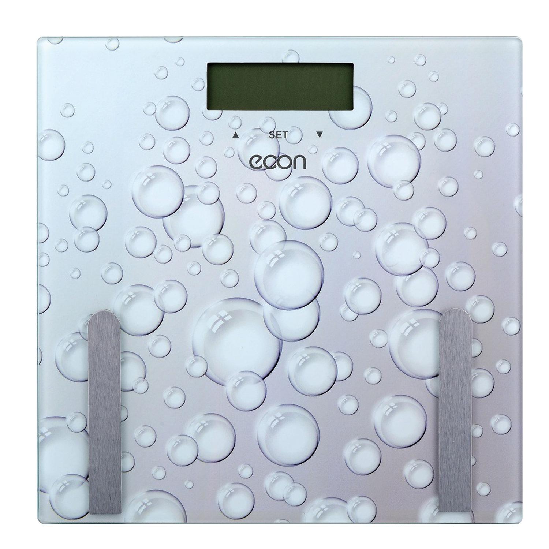 Весы напольные диагностические ECON ECO-BS011, электронные, вес до 180 кг, квадратные, стекло, серые