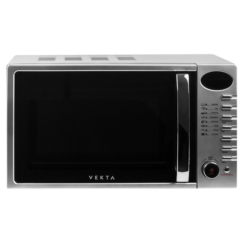 Микроволновая печь VEKTA TS720ATS, объем 20 л, мощнось 700 Вт, электронное управление, таймер, серебро