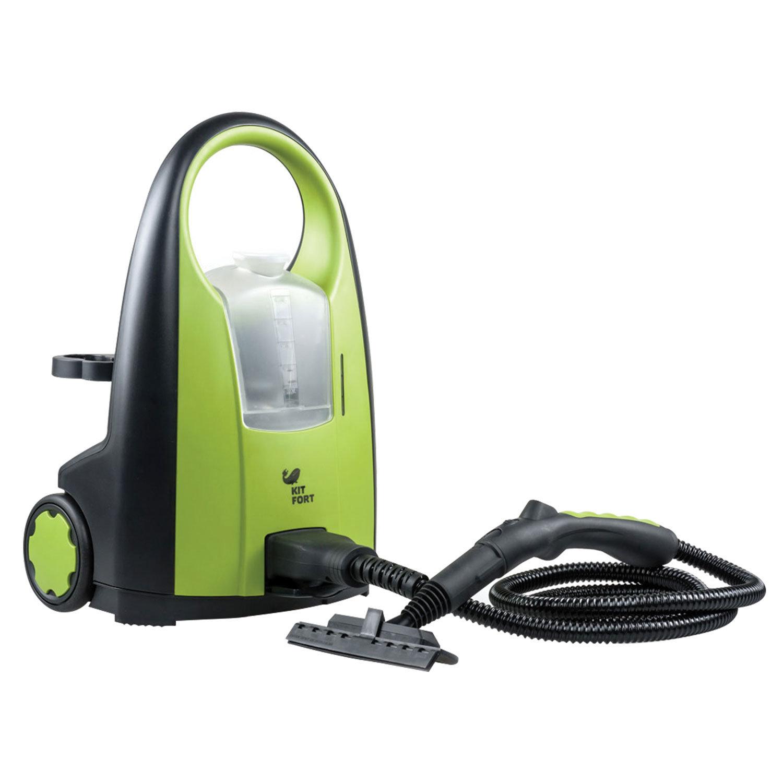 Пароочиститель KITFORT KT-903, 2000 Вт, 4 бара, объем 1,5 л, зеленый