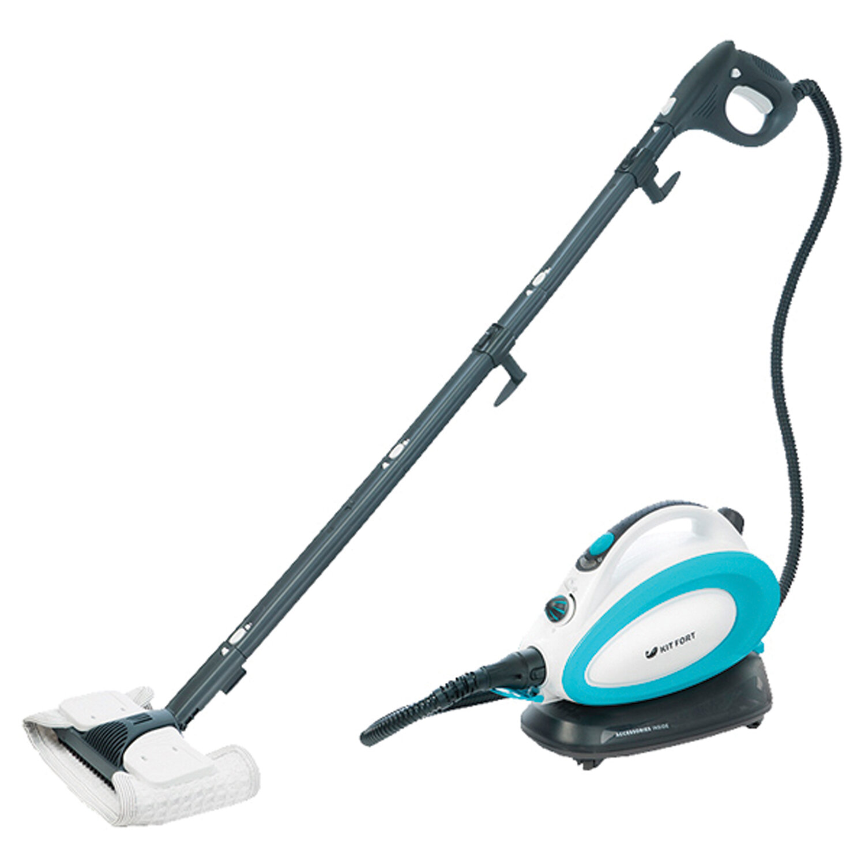 Пароочиститель KITFORT KT-914, 1500 Вт, 3,5 бара, объем 0,75 л, белый/голубой
