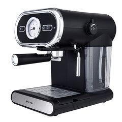 Кофеварка рожковая KITFORT КТ-702, 1100 Вт, объем 1 л, 15 бар, ручной капучинатор, черная
