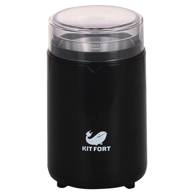 Кофемолка KITFORT КТ-1314, мощность 150 Вт, вместимость 60 г, пластик, черный