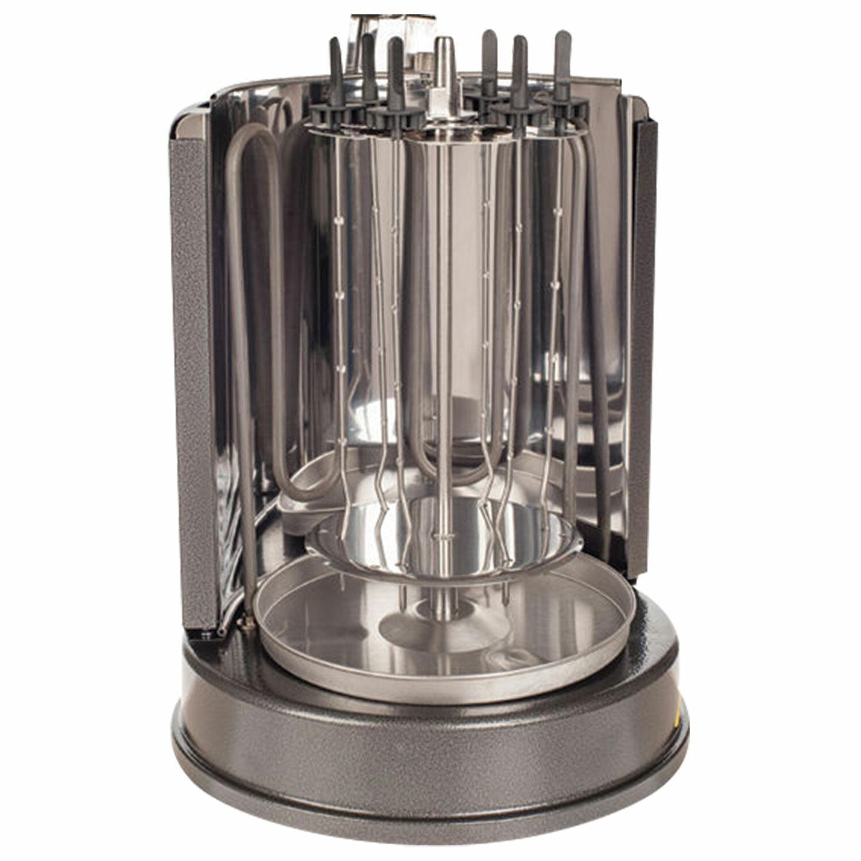 Шашлычница электрическая KITFORT KT-1404, 1400 Вт, 7 шампуров, сталь
