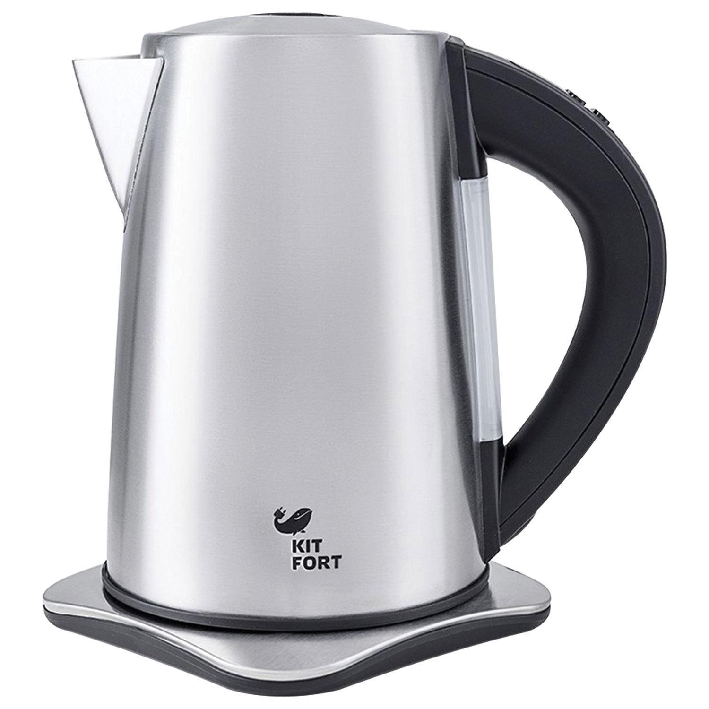 Чайник KITFORT КТ-613, 1,7 л, 2000 Вт, закрытый нагревательный элемент, 6 режимов нагрева, сталь