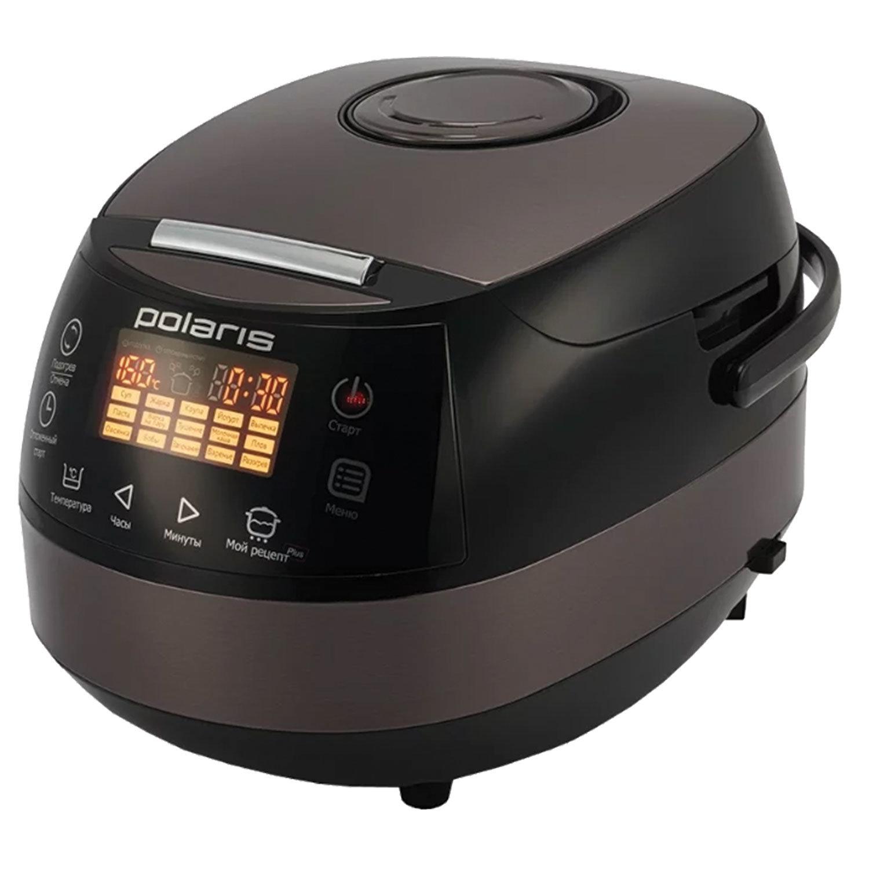 Мультиварка POLARIS PMC 0517AD/G, 860 Вт, 5 л, 15 программ, таймер, сенсорное управление, черная/коричневая