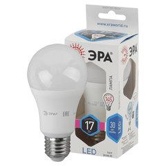 Лампа светодиодная ЭРА, 17 (145) Вт, цоколь E27, груша, нейтрал. белый, 25000 ч, smdA60-17w-840-E27
