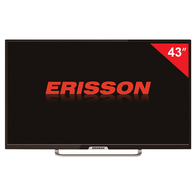 Телевизор ERISSON 43FLES85T2SM, 43'' (108 см), 1920х1080, Full HD, 16:9, Smart TV, Wi-Fi, черный