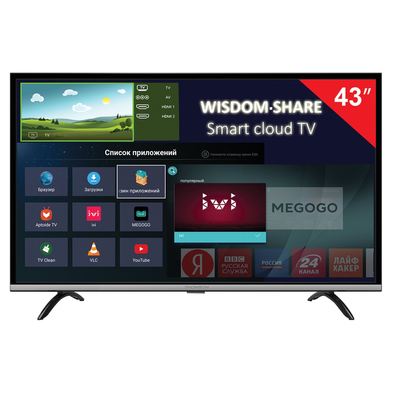 "Телевизор THOMSON T43FSL5140, 43"" (108 см), 1920х1080, Full HD, 16:9, Smart TV, Android, Wi-Fi, черный"
