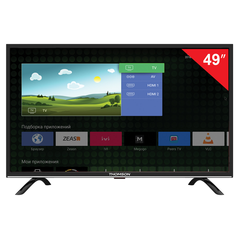 "Телевизор THOMSON T49FSL5130, 49"" (124 см), 1920х1080, Full HD, 16:9, Smart TV, Android, Wi-Fi, черный"