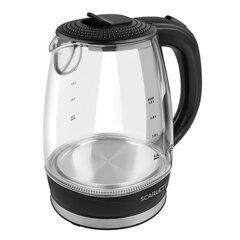 Чайник SCARLETT SC-EK27G53, 1,8 л, 2200 Вт, закрытый нагревательный элемент, стекло, черный