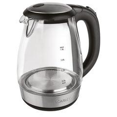 Чайник SCARLETT SC-EK27G56, 1,7 л, 2200 Вт, закрытый нагревательный элемент, стекло, черный