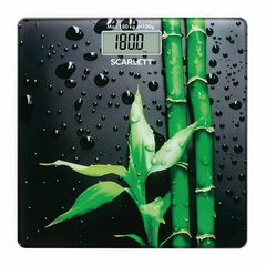 """Весы напольные SCARLETT SC-BS33E051 """"Бамбук"""", электронные, вес до 180 кг, квадрат, стекло, с рисунком"""