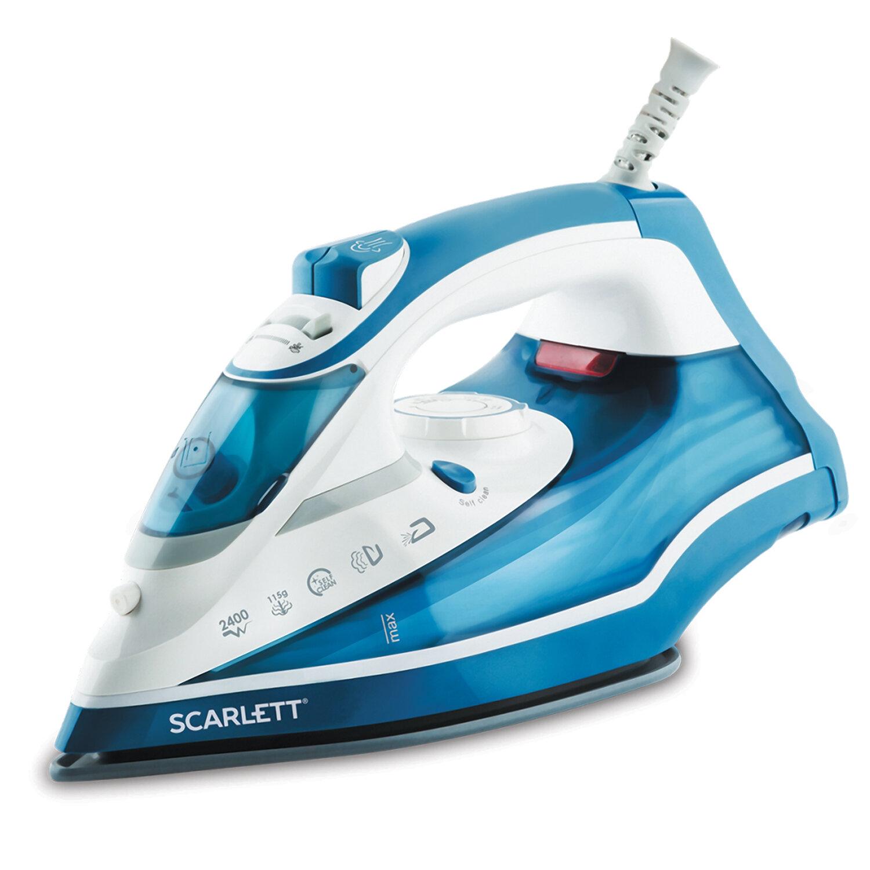 Утюг SCARLETT SC-SI30K17, 2400 Вт, керамическое покрытие, автоотключение, антинакипь, самоочистка, синий