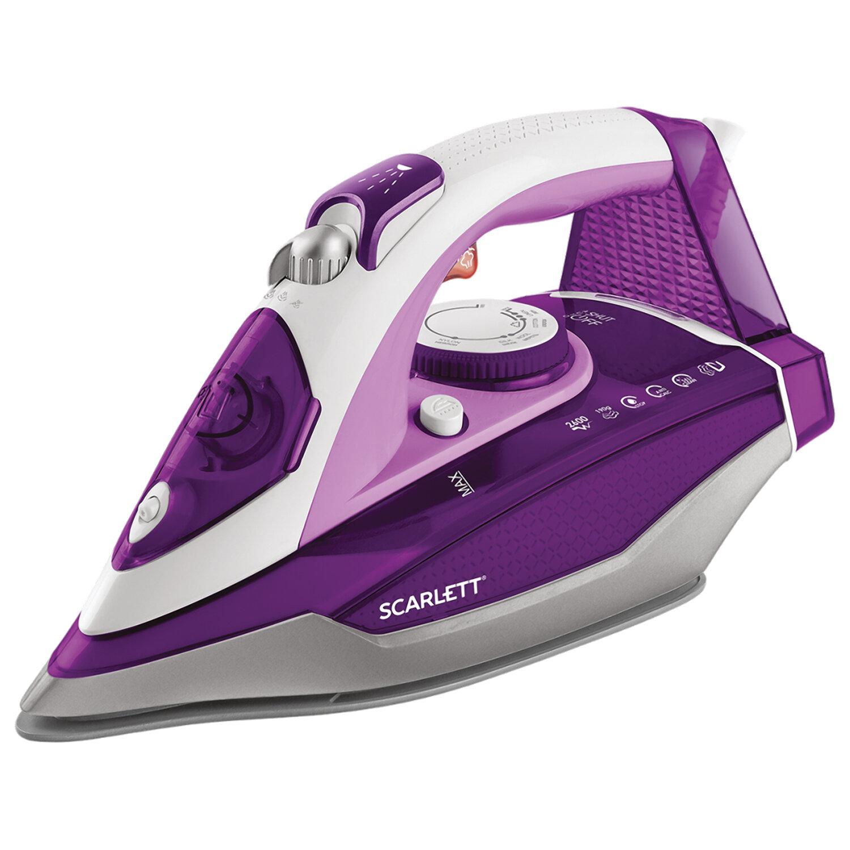 Утюг SCARLETT SC-SI30K36, 2600 Вт, керамическое покрытие, автоотключение, антикапля, антинакипь, самоочистка, фиолетовый