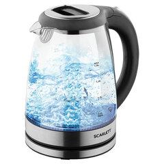 Чайник SCARLETT SC-EK27G69, 1,8 л, 2000 Вт, закрытый нагревательный элемент, стекло, черный