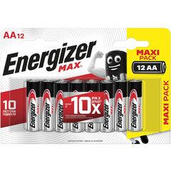 Батарейки КОМПЛЕКТ 12 шт., ENERGIZER Max, AA (LR06, 15А), алкалиновые, пальчиковые, блистер