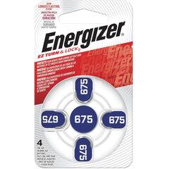 Батарейки для слуховых аппаратов КОМПЛЕКТ 4 шт., ENERGIZER Zinc Air 675, блистер