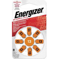 Батарейки для слуховых аппаратов КОМПЛЕКТ 8 шт., ENERGIZER Zinc Air 13, блистер